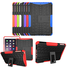 Shockproof Anti Skid Heavy Obligation Cowl Case with Kickstand for ipad mini 1 mini 2 Pill Protecting Case for ipad mini three eight Colours