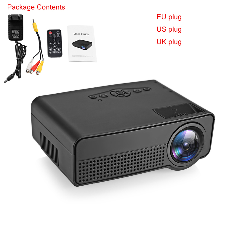 H100 led portable projector home theater 600 lumens 480 x for Top rated pocket projectors