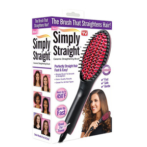 Image 5 - Pro Straightening Irons Electric Simply Hair Straightener Brush Styling Hair Straightener Comb Hair Care Auto Massager Fast Hair