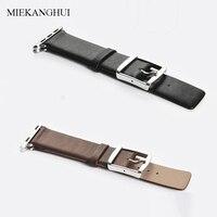 MEIKANGHUI Genuine Leather Watchbands Fits All Of Apple Watch Series 38mm 42mm Iwatch Strap Women Men