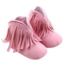 Baby Boots 2017 Fashion Toddler Infant Newborn Baby Girl Shoes Soft Sole Boots Prewalker Tassel D50
