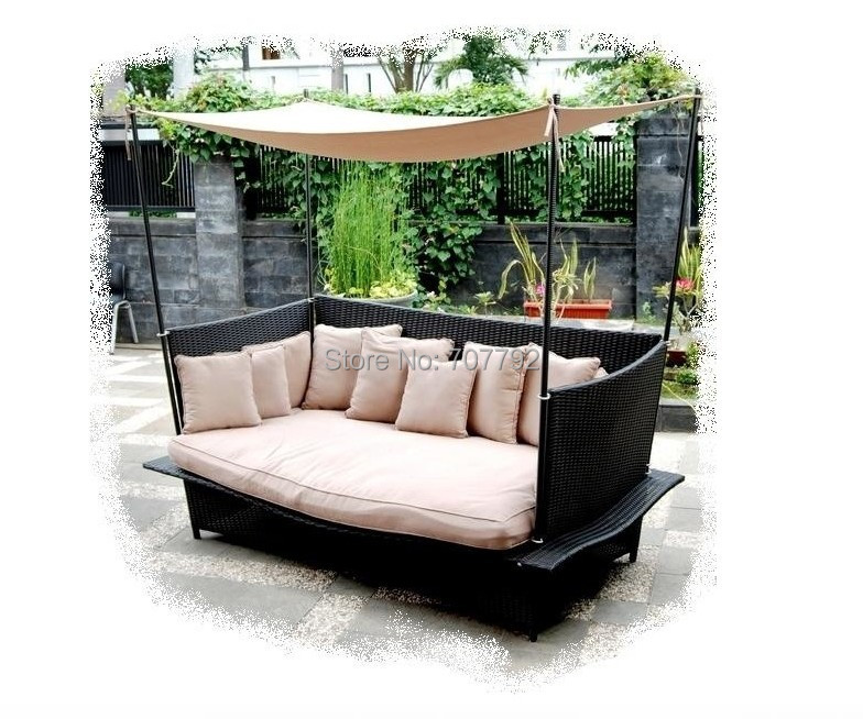 Charmant All Weather Outdoor Wicker Garden Chaise Daybed In Garden Sofas From  Furniture On Aliexpress.com | Alibaba Group