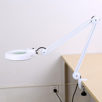 Hand Free Magnifying Glass With Light Magnifier Desk Lamp With Clamp And Base Holder Magnifier Jewelry