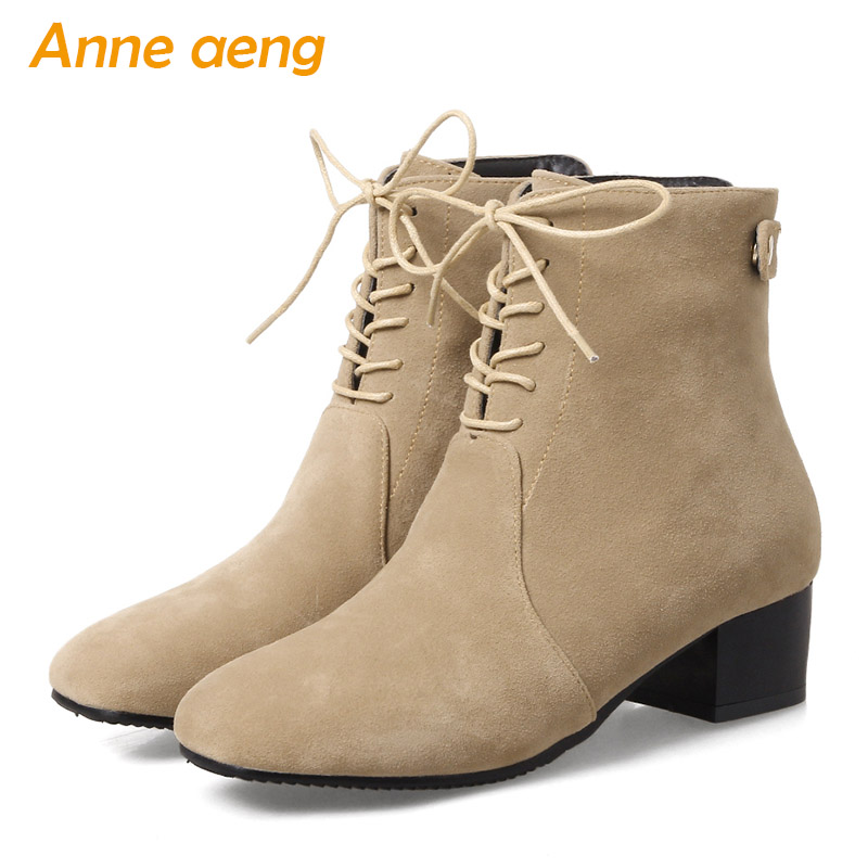 2019 new Autumn winter women ankle boots middle heels square toe zip ladies snow boots black winter women shoes plus size 33-46 2018 new autumn winter genuine leather women ankle boots high heels pointed toe zip sexy ladies snow boots black women shoes