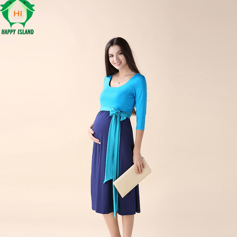 Christmas Maternity Clothes Maternity Dress Elegant Evening Party Dresses For Pregnancy Blue Skirt Office Lady Vestidos