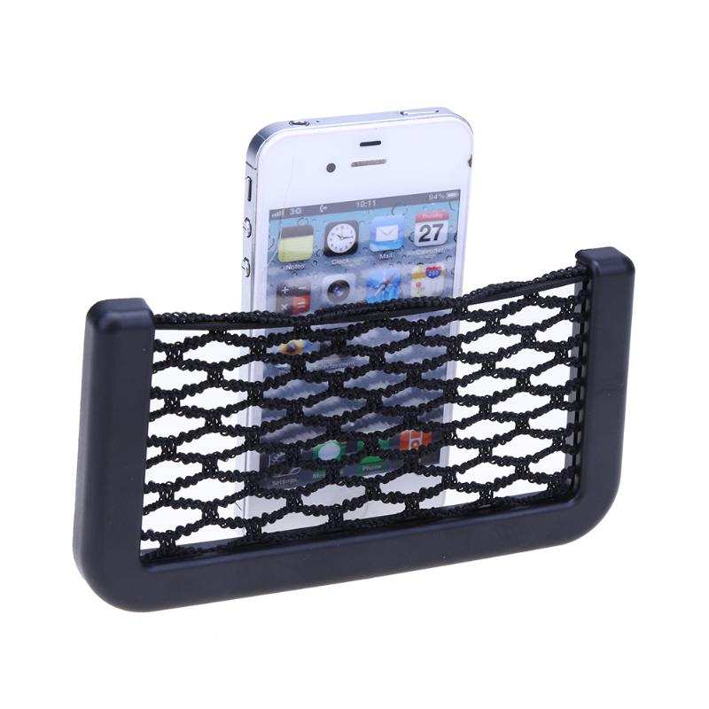Car Voiture Stowing Tidying Auto Elastic Storage Net String Mesh Bag Phone Holder Ticker Pocket With 3M gum Car-styling