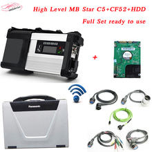 2017 Best Quality MB C5 Star+2017.9HDD+CF52 Laptop wireless for Car&Truck mb star c5 Diagnosis Tool Multi-Language DHL Free Ship