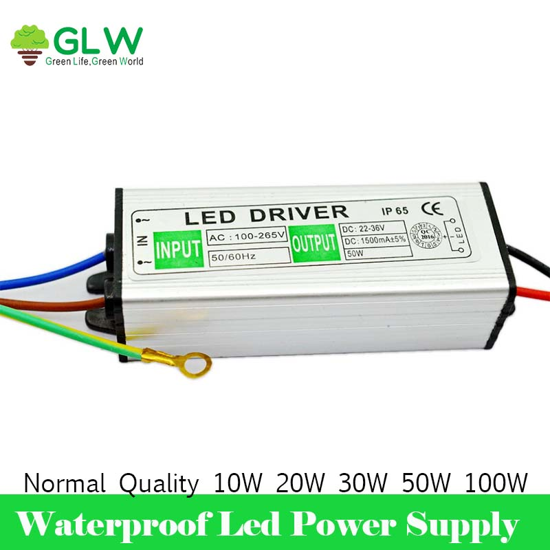 buy led driver 100w 50w 30w 20w ip65 waterproof cob led power supply output 30v. Black Bedroom Furniture Sets. Home Design Ideas