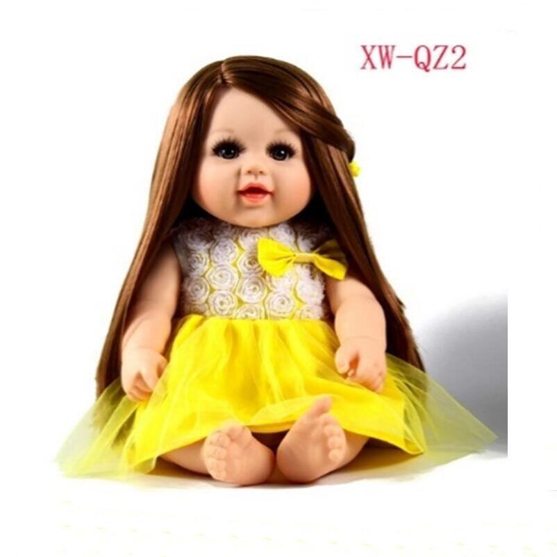 3e3425081ad9d 2018 nouveau 48 cm Doux Corps Silicone Reborn Bébé Poupée Jouet Pour Filles  Vinyle Nouveau-Né Fille Bébés Poupées Enfants Enfant Cadeau Fille Brinqdos