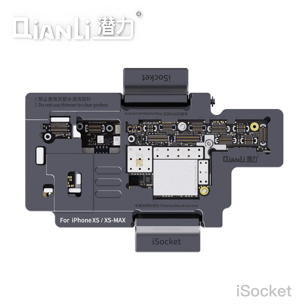Suporte para Iphone Qianli Novo Isocket Placa-mãe Teste Dispositivo Elétrico xs – Max Duplo-plataforma Função Tester
