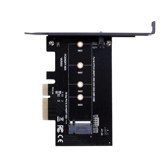 PCI Express 4x to M Key M.2 Adapter SSD Slot Adopter for Windows MAC OS M.2 PCI-E SSD (NGFF) SSD 2230 2242 2260 2280 Card