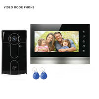 SmartYIBA DVR ViDeo Door Phone Wired Video Intercom Home Entry system 7inch Color Touch LCD 1000tvl IR Camera Door Bell