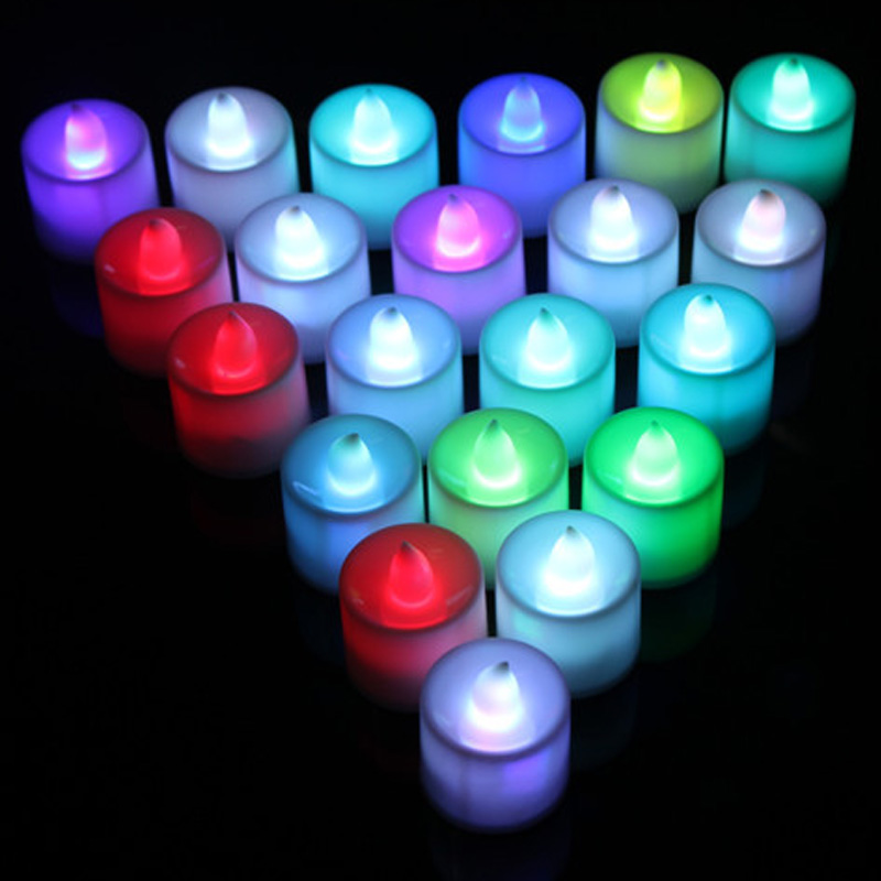 7 Color LED Changing Electronic Flameless Candle Lamp Home Party Decor