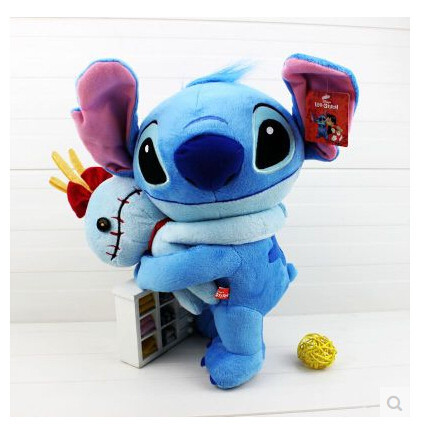 amazing toys Amazing Blue Lilo and Stitch Hug Scrump Style Plush Boys Collection Toys Cartoon Moive Figure Toy Doll 37cm Brand New