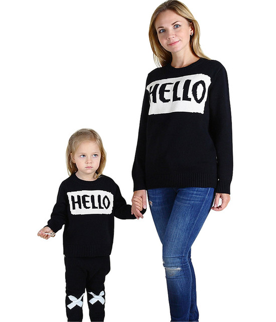 79995e7f52 Family Thickening Sweaters Clothing Mom And Me Son Mother and Daughter  Matching Clothes Winter Mommy Me Outfits Family Sweaters