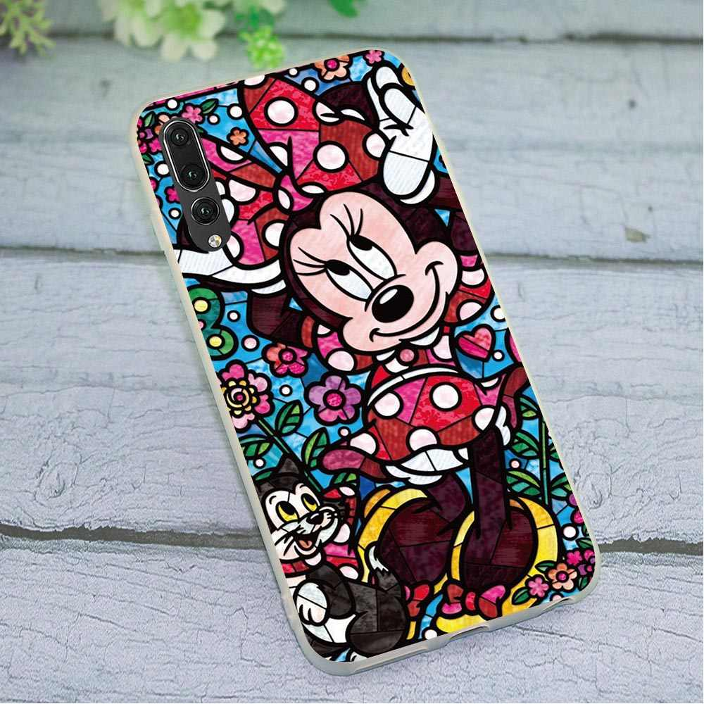 Soft Phone Case for Huawei Mate 20 Lite Cover P8 P9 P10 M20 Lite P20 P30 Pro P Smart Mate 10 20 Pro Mickey Mouse Marie Cat