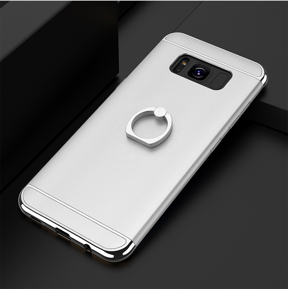 Ring Holder Cover For Samsung Galaxy S8 Plus S8 Case 3 in 1 Combo Armor Stand Phone Bag Cases  (19)