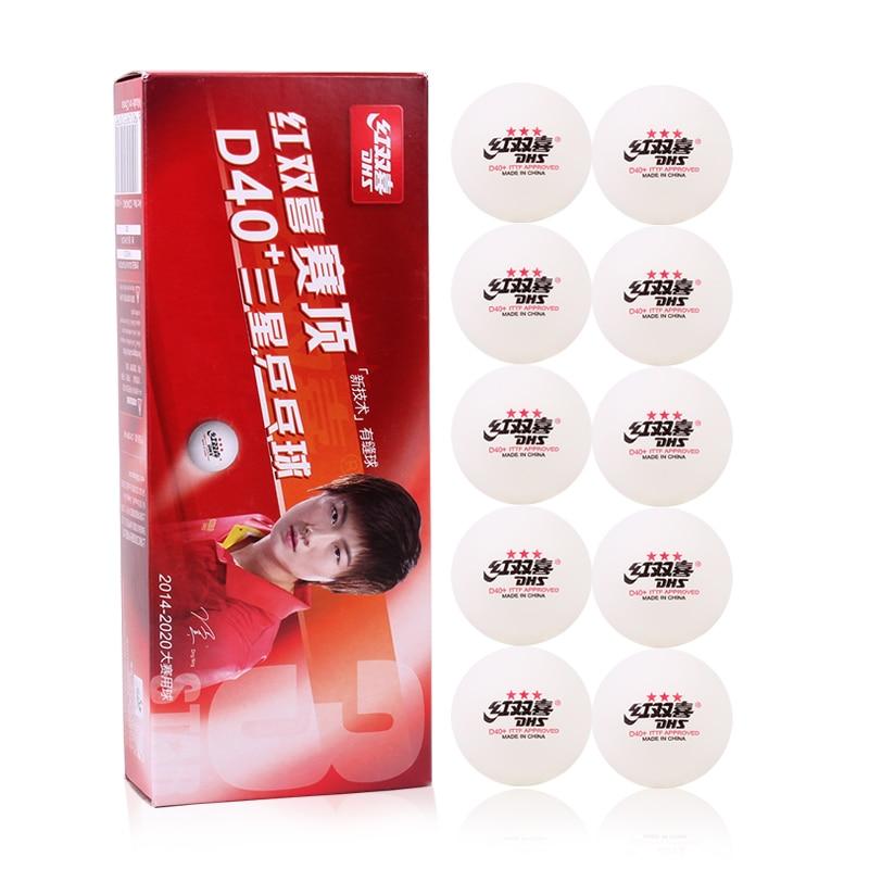 20 Bälle/box Dhs 3 Sterne D40 + Tischtennis Bälle Neue Material Kunststoff Poly Ping Pong Bälle Ittf Genehmigt Naht Professionelle Ball Geeignet FüR MäNner, Frauen Und Kinder