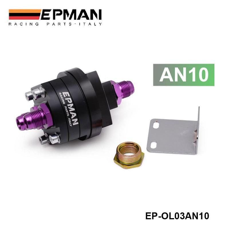 EPMAN AN10 BLACK OIL FILTER SENDER SANDWICH PLATE COOLER ADAPTER KIT 3/4X16,20X1.5 EP-OL03AN10BK