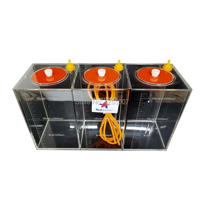 Mar Rojo bomba dosificadora escala Cubo de almacenamiento de líquidos con escala 1.5L/2.5L/4.5L/5.0L/10,0 litros acrílico de alta calidad hecha arrecife