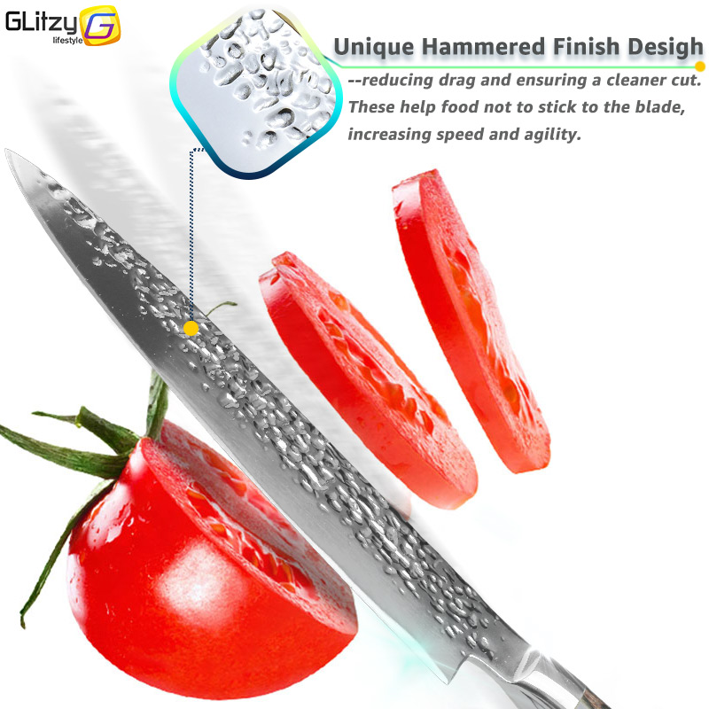 Kuća i bašta ... Kuhinja i trpezarija ... 32800950776 ... 3 ... Kitchen Knife 8 inch Professional Japanese Chef Knives 7CR17 440C High Carbon Stainless Steel Meat Cleaver Slicer Santoku Knife ...
