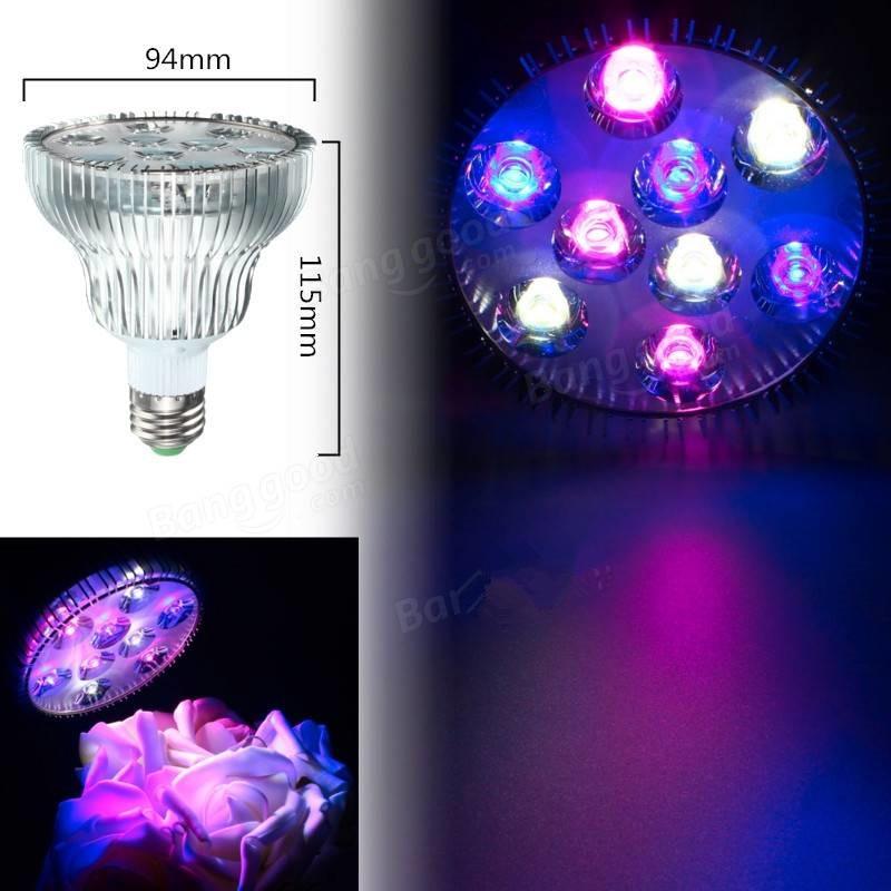 Alta qualidade LEVOU Crescer Luz PAR30 E27/B22 9 W 85-265 V Professional LEVOU Planta Cresce A luz 20 pçs/lote, DHL Grátis!!!