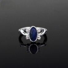 Mqchun moda filmes jóias o vampiro diários anel elena gilbert luz do dia anéis de cristal do vintage azul lapis cosplay presente