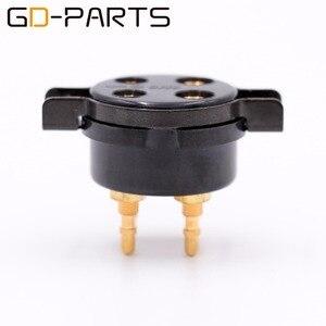 Image 3 - GD PARTS CMC baquelita 4pin toma de tubo para 2A3 300B FU 811 274A 572B chapado en oro cobre pin Hifi Vintage amplificador DIY