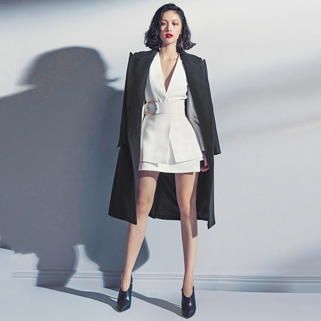 2019 New Fashion Women Dress Irregularity Half Dress Small Suit Two Pieces Of Dress Clothes Black Women Jackets And Coats Suit