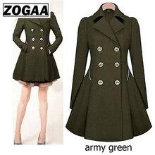 ZOGAA Brand Plus Size Trench Coat Women Autumn Womens Double Breasted Warm Windbreaker Causal Long Ladies Femme