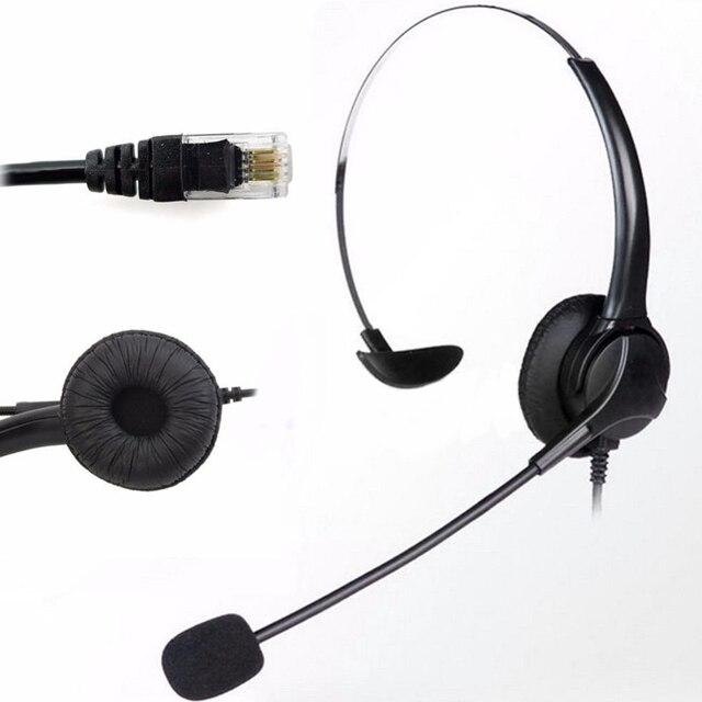 電話ヘッドセットノイズキャンセルマイク RJ11 ヘッドセットデスクオフィス電話