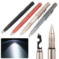 Multi-function тактическая ручка для самообороны военный светодиодный фонарик стеклянный выключатель Самозащита инструмент шариковые ручки ND998