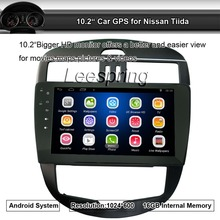 10.2″ Quad Core Android system 2 din Car GPS for Nissan Tiida with Mirror Link RAM 1G iNAND 16G auto multimedia Stereo SAT