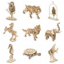 Rolife 20 типов домашние декоративные фигурки Laster резка DIY ручной работы деревянные миниатюрные модели животных автомобиль орнамент для подарка для детей TG