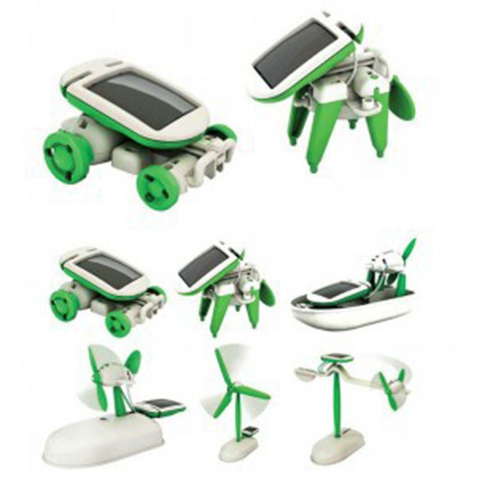 Learning & Education Classic Toys Diy Montessori Creative High-tech Small Production Science Experiment Set Six-in-one Toy Solar Assembled Toy
