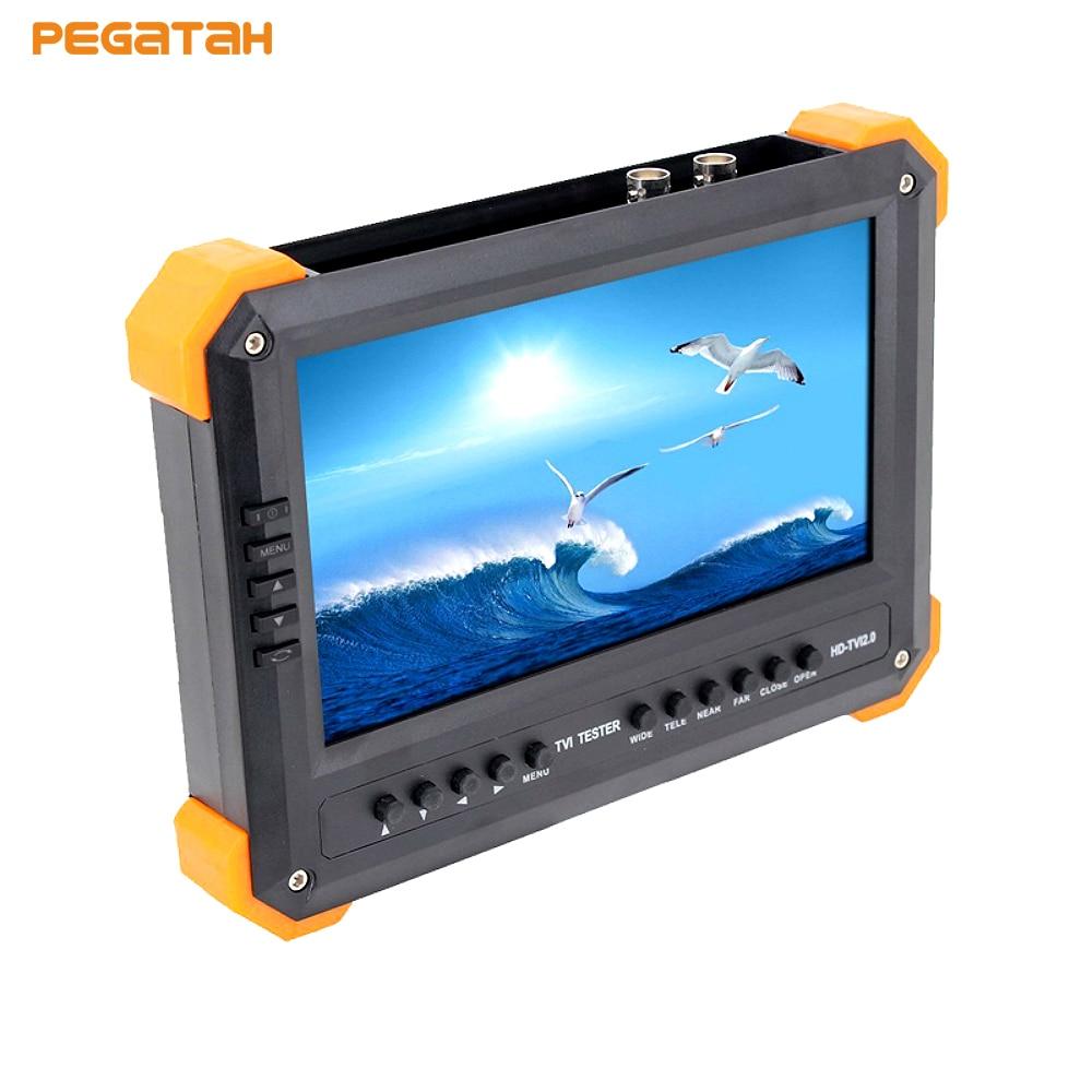 7 pouces UTC 5MP TVI AHD 1080 P CVI CCTV testeur moniteur AHD testeur CVI TVI testeur avec entrée VGA HDMI DC12V sortie HIKVISION