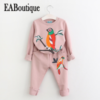 EABoutique Fashion Love Bird Pattern Long Sleeve Winter Clothes For Girls Korean Style Boutique Outfits