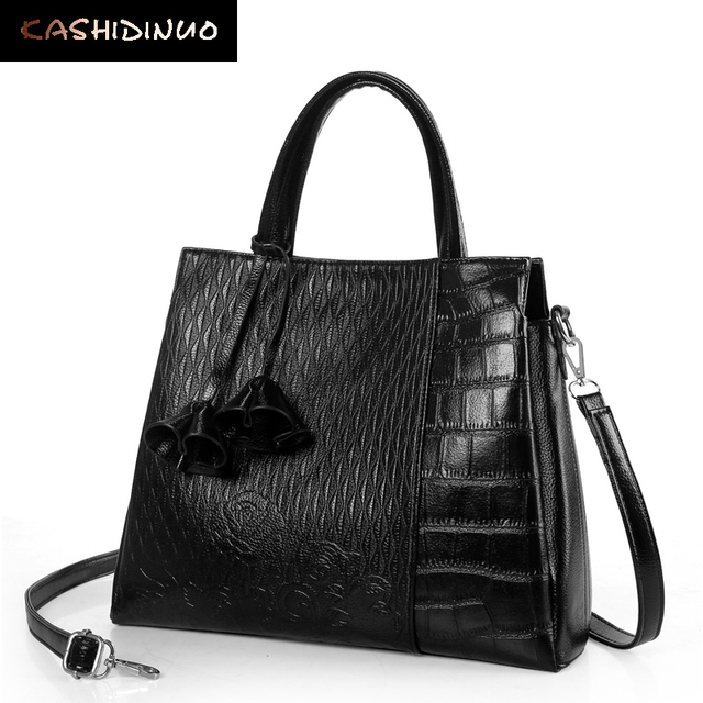 033d93e358 KASHIDINUO Brand Fashion Embossed Women Leather Handbag High Quality Ladies Shoulder  Messenger Bags Casual Office Tote