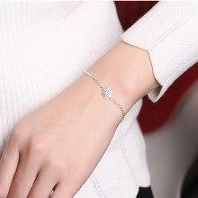 Silver Snowflake Style Charm Bracelet