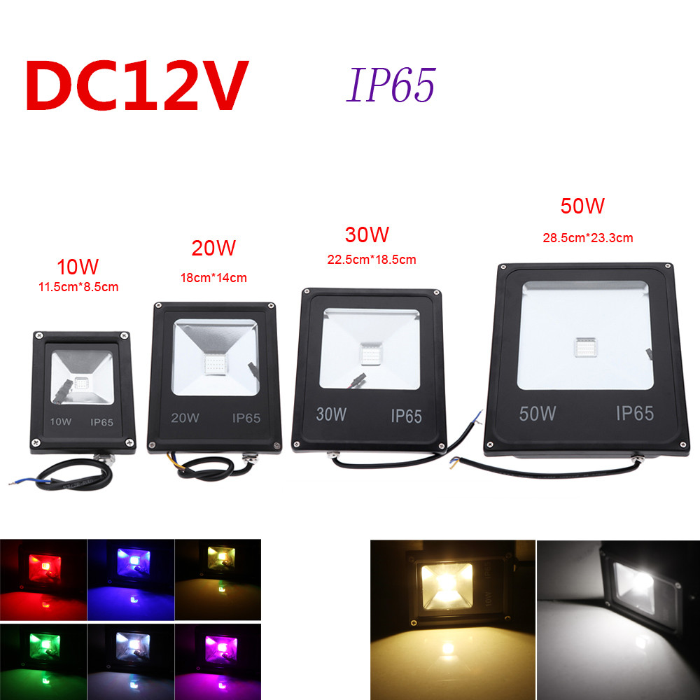 20pcs/lot DC12V DHL FEDEX RGB <font><b>led</b></font> flood light 10W <font><b>20W</b></font> 30W 50W Waterproof <font><b>Floodlights</b></font> reflector outdoor lamp <font><b>led</b></font> bulbs image