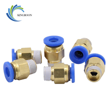 10pcs 3D Printers Pneumatic Connectors PC4-01 1.75mm PC6-01 3.0mm PTFE Tube quick coupler j-head Fittings For V5 V6 Hotend Fit 4