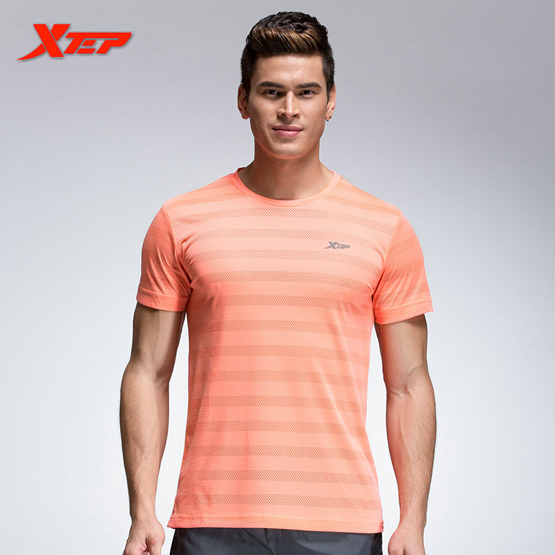 XTEP Running Shirts Men Athletic Outfits 2016 Brand Polyster Tops ...