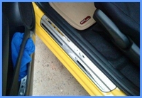 Free Shipping High Quality Stainless Steel For HONDA FIT JAZZ 4pcs DUEL TONE DOOR SILLS Door
