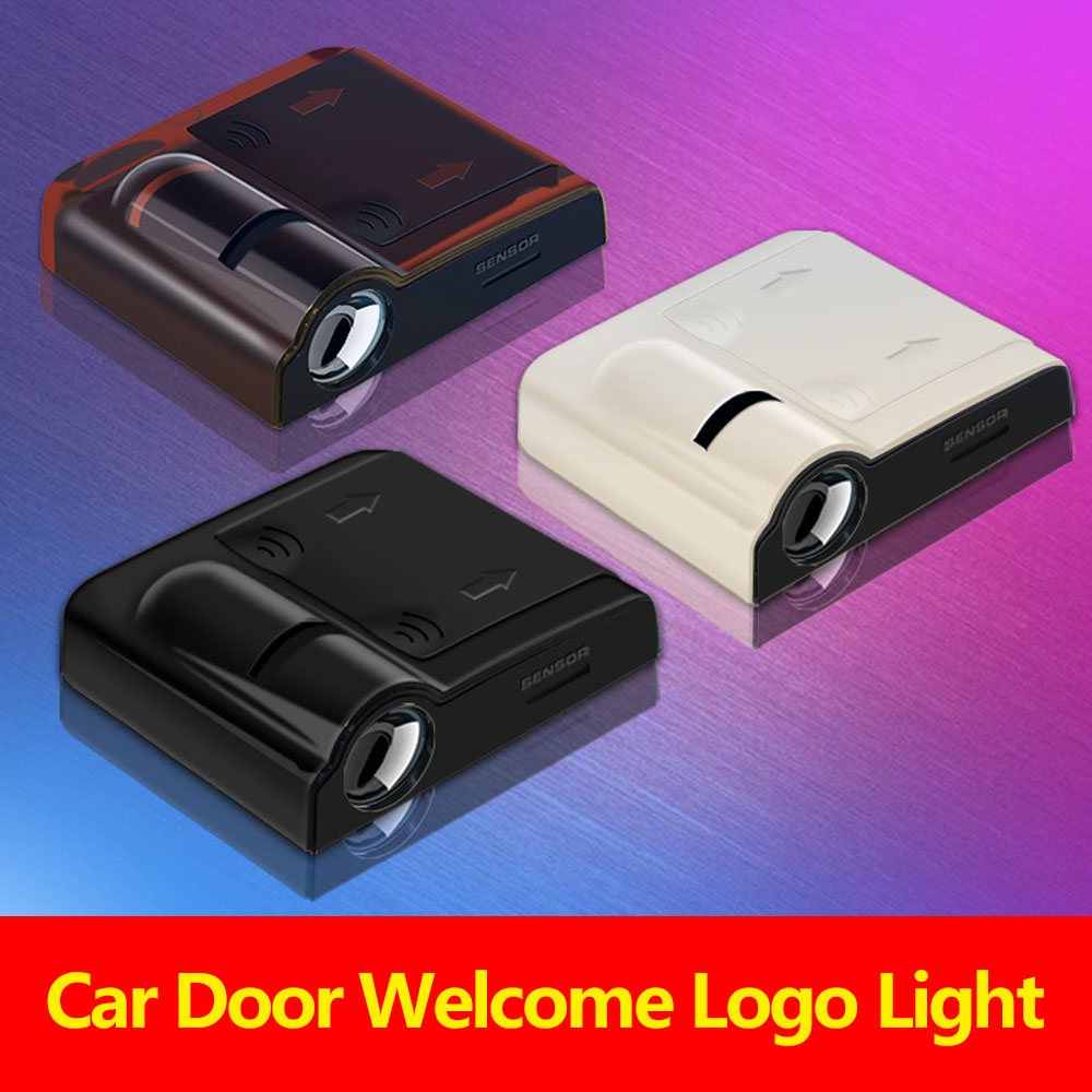2PCS Led Car Door Welcome Logo Light For Peugeot For Mercedes Benz Projector Ghost Shadow Lamp Welocome Door Light