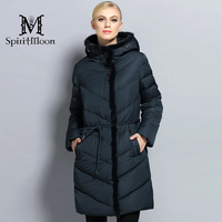 SpiritMoon 2017 Winter Women Thick Coat Female Coat Bio Down Jacket Hooded Thick Parka With Natural