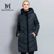 SpiritMoon 2017 Winter Women Thick Coat Female Coat Bio Down Jacket Hooded Thick Parka With Natural Mink Fur Plus Size 5XL 6XL
