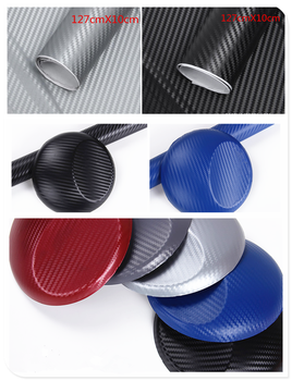 127cmx10cm car shape carbon fiber sticker 3D color film decoration for BMW i8 Z4 X5 X4 X2 X3 M5 M2 X6 M6 640i 640d image