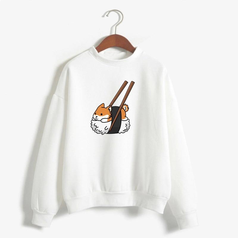 Women'S Hoodies Cartoon Dog Shiba Inu Sweatshirt Funny Graphic Hoodie Fashion Sudadera Mujer Moletom Feminino Kawaii Pullover
