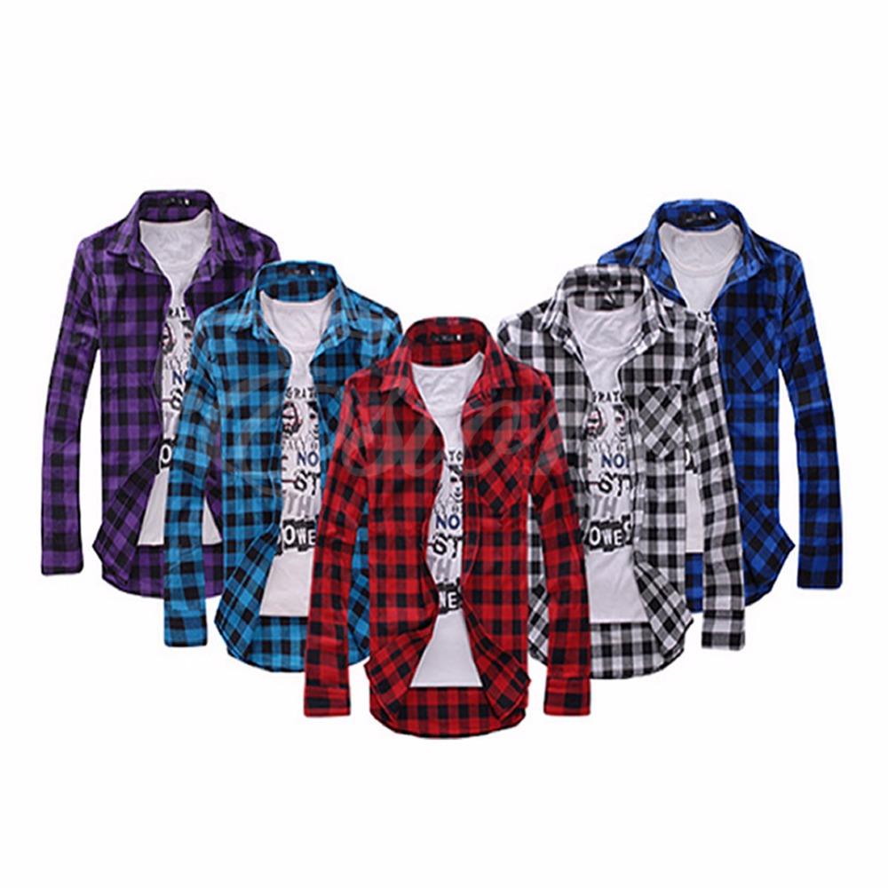 Red and Black Check Shirt Mens Promotion-Shop for Promotional Red ...