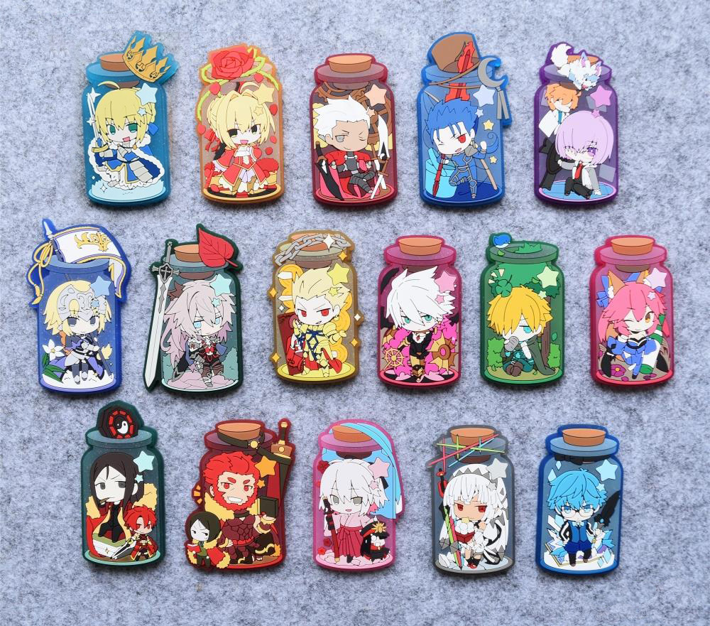Saber Tosaka Rin Anime Fate Stay Night UBW Fate Zero Type Moon Rubber Resin Kawaii Fridge Accessory цены